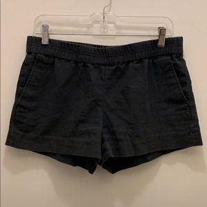 "J. Crew Factory black 3"" pull on shorts"